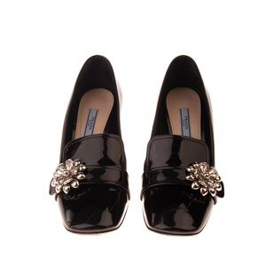 Prada Leather Loafer Court Shoes Size 38 US 7 1/2-